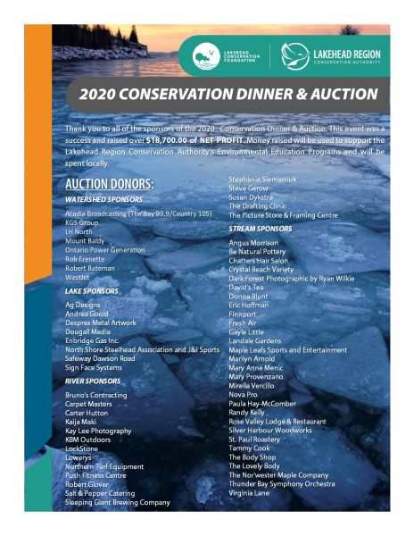 2020 Conservation Dinner & Auction Thank You