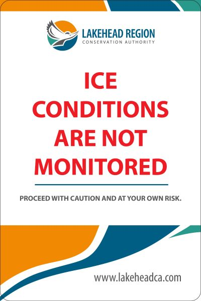 BE AWARE OF ICE CONDITIONS